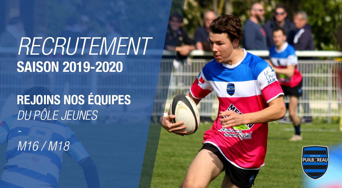 Recrutement saison 2019-2020